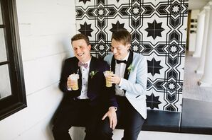 Same-Sex Wedding Portraits at Villa Royale in Palm Springs, California