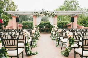 Outdoor Garden Ceremony Under Pergola