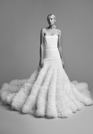 Viktor&Rolf Mariage CRYSTALLISED TULLE FUR GOWN Ball Gown Wedding Dress