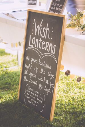 Chalkboard Sign for Wish Lanterns