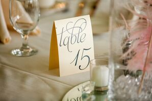 Classic Folded Table Numbers