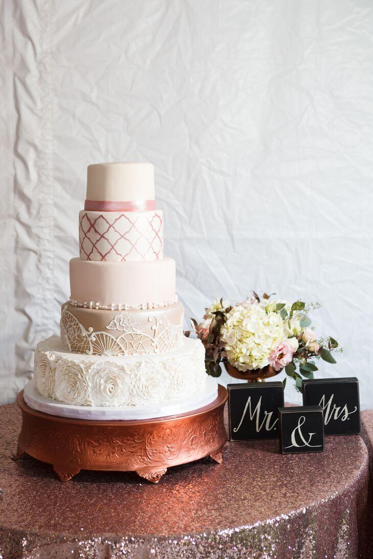 Tiered Geometric Fondant Cake