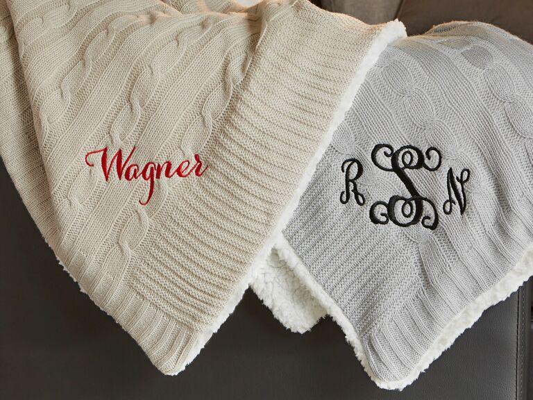 cozy personalized blanket