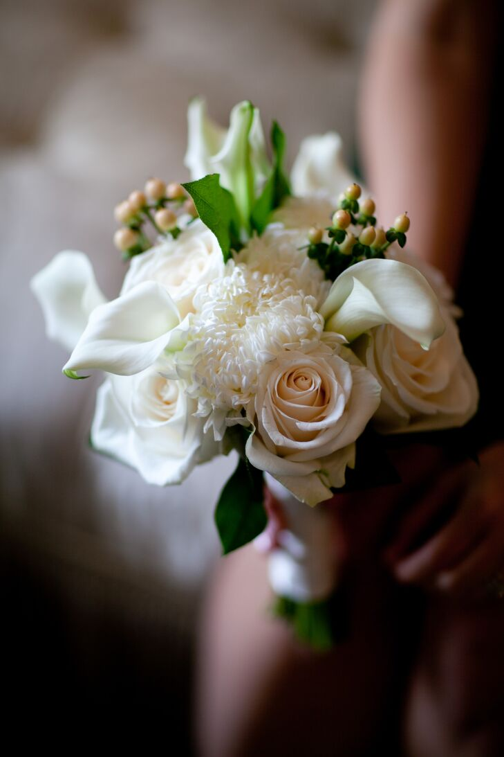 Light Rose and Calla Lily Bridesmaid Bouquet