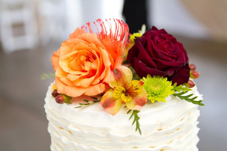 Bright Floral Cake Topper