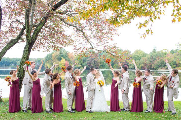 Wind Red Bill Levkoff Bridesmaid Dresses