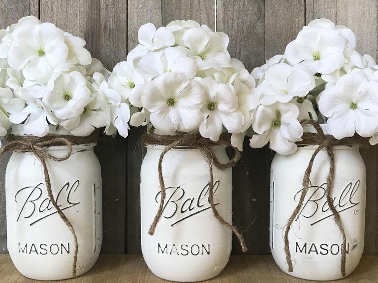 Rustic mason jar set