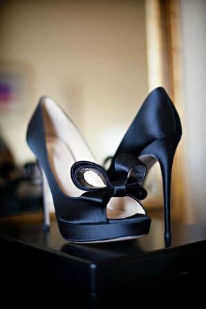 Dark Blue Valentino Bridal Shoes