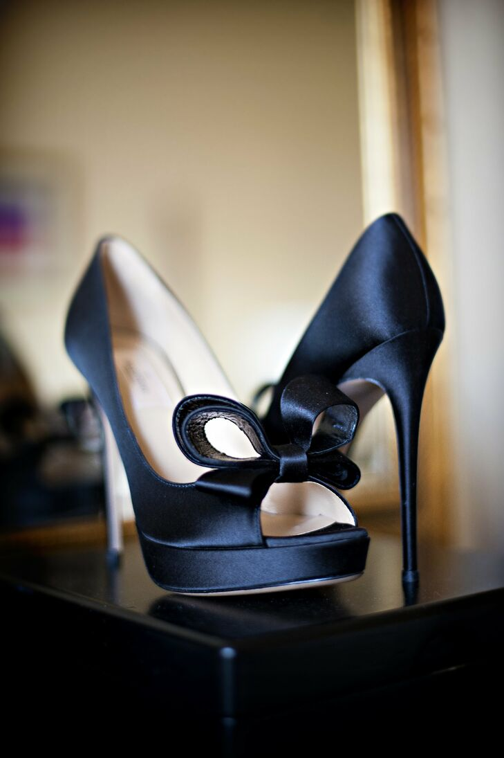 Dark Blue Valentino Bridal Shoes
