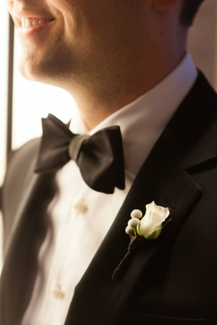 Simple White Boutonniere