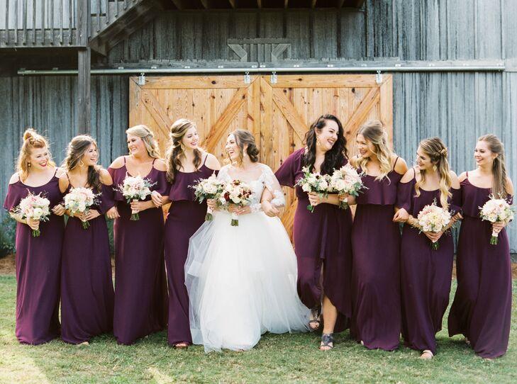 Dark Plum Chiffon Bridesmaid Dresses