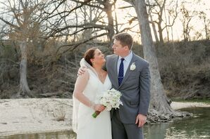 Hailey and Tyler at Creekside Texas Venue