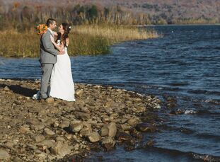 Katie and Jeff's wedding was inspired by their love of the mountains. When it came to selecting a venue, they chose Mountain Top Inn and Resort in Chi