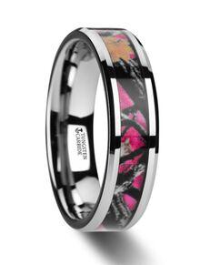 Mens Tungsten Wedding Bands W3081-BCPC Tungsten Wedding Ring