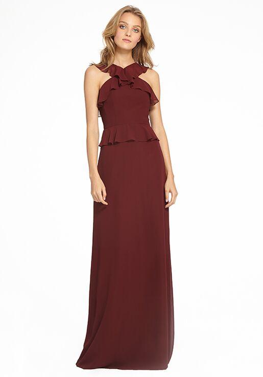 Monique Lhuillier Bridesmaids 450528 Halter Bridesmaid Dress