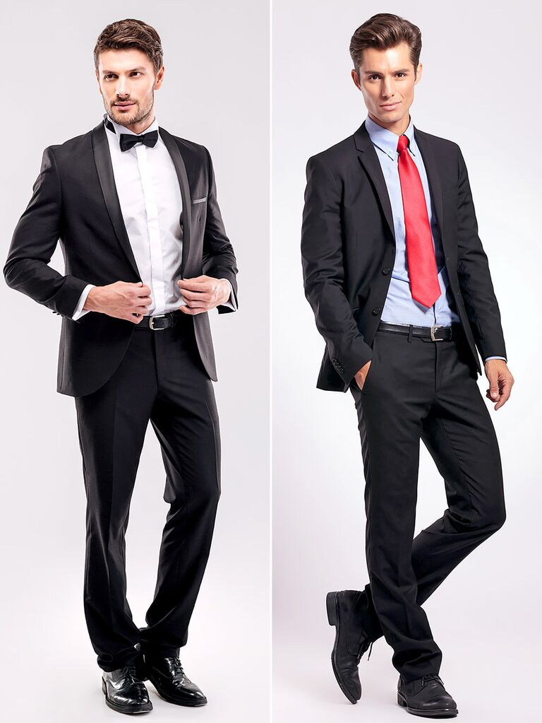 Tuxedo vs suit full length differences