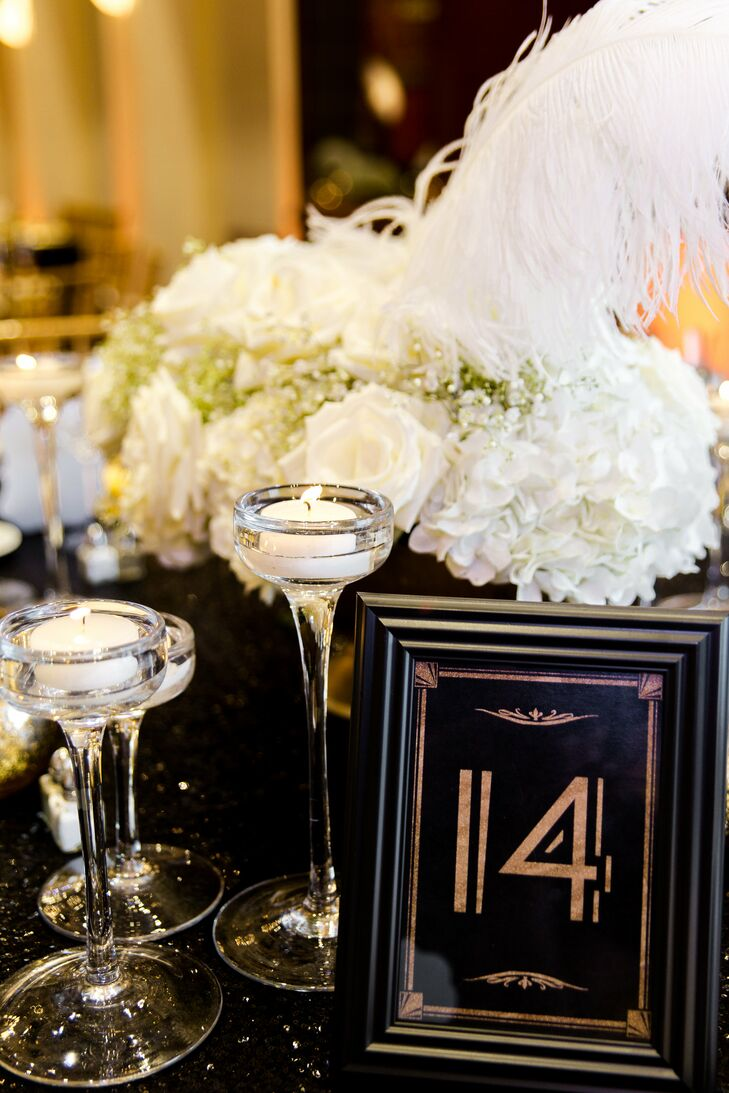 Art Deco Framed Table Number