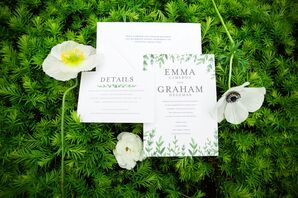 Whimsical Garden-Inspired Wedding Invitations