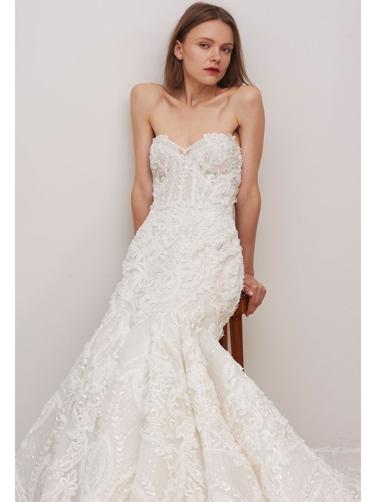 Rivini by Rita Vinieris fit and flare lace gown