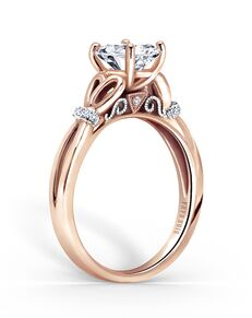 Kirk Kara Classic Oval Cut Engagement Ring