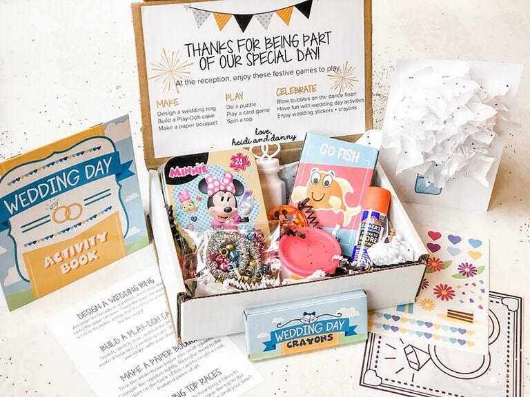 Flower girl activity box