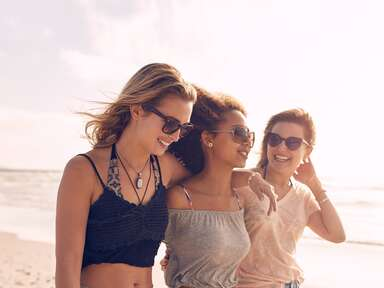 Girls on a beach