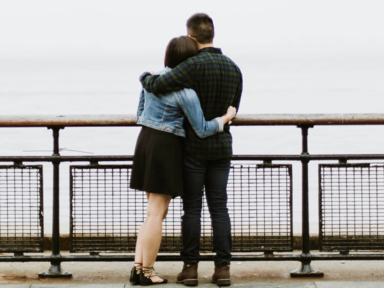 Couple on a pier