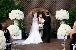 Mansion Courtyard Outdoor Ceremony