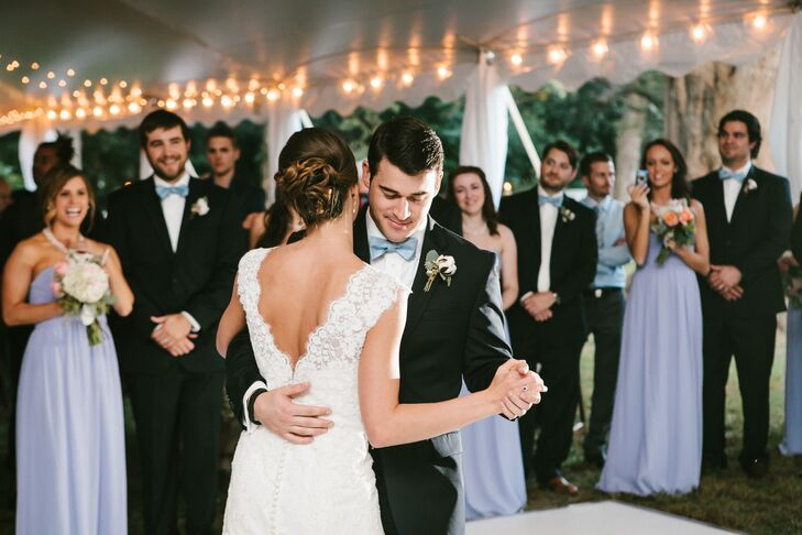 """""""Our favorite part of the day was dancing with all of family and friends. It was such an amazing time being surrounded by all of our loved ones in one place. At the end of the night, we rode off in a horse drawn carriage and toured the historic square."""""""