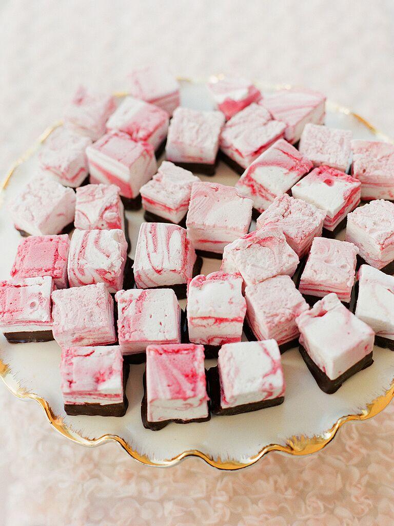 Gourmet flavored marshmallow wedding desserts