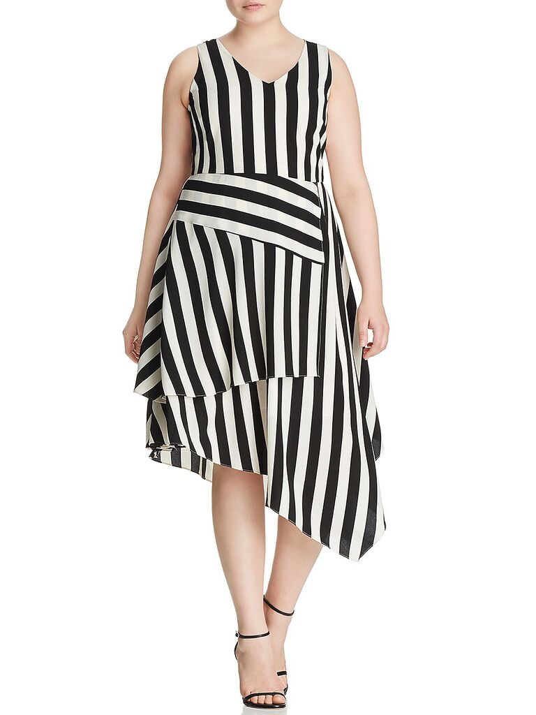 Vince Camuto stripe dress spring wedding attire