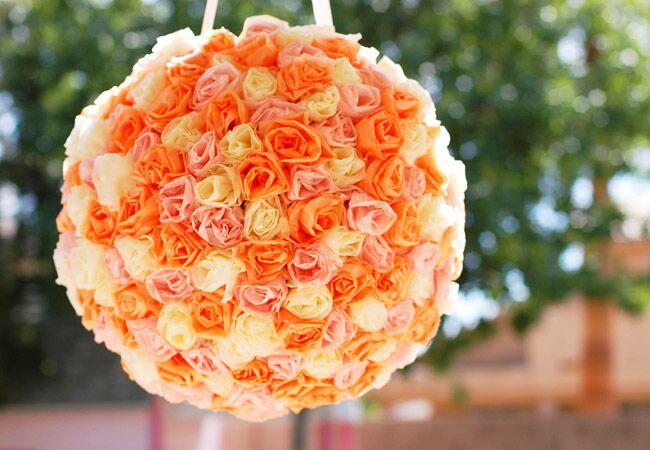Tissue Paper Flower Pinata