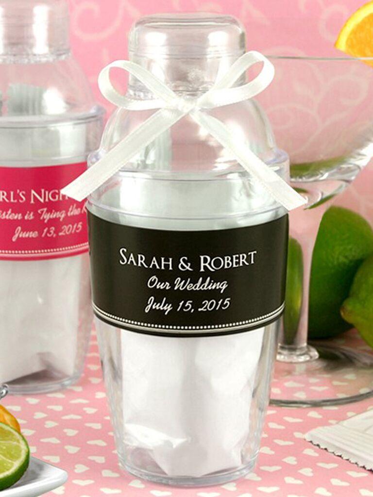 Personalized cocktail shaker unique wedding favors