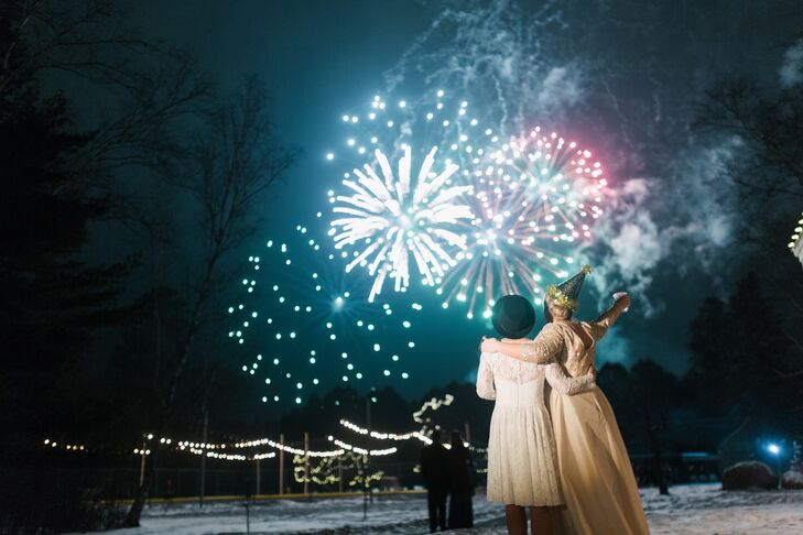 A Grand View Lodge New Year's Eve fireworks display held special meaning to newlyweds Jillian and Sally.