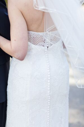 Button-Down Wedding Dress Back