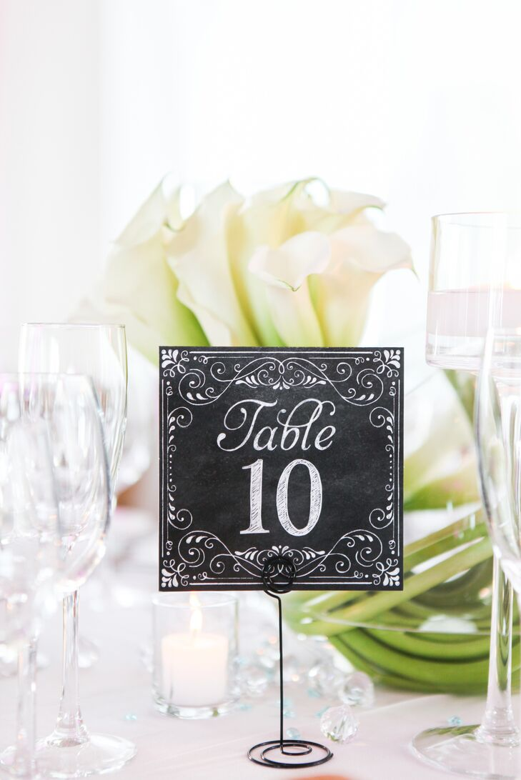 Black-and-White Elegant Table Numbers