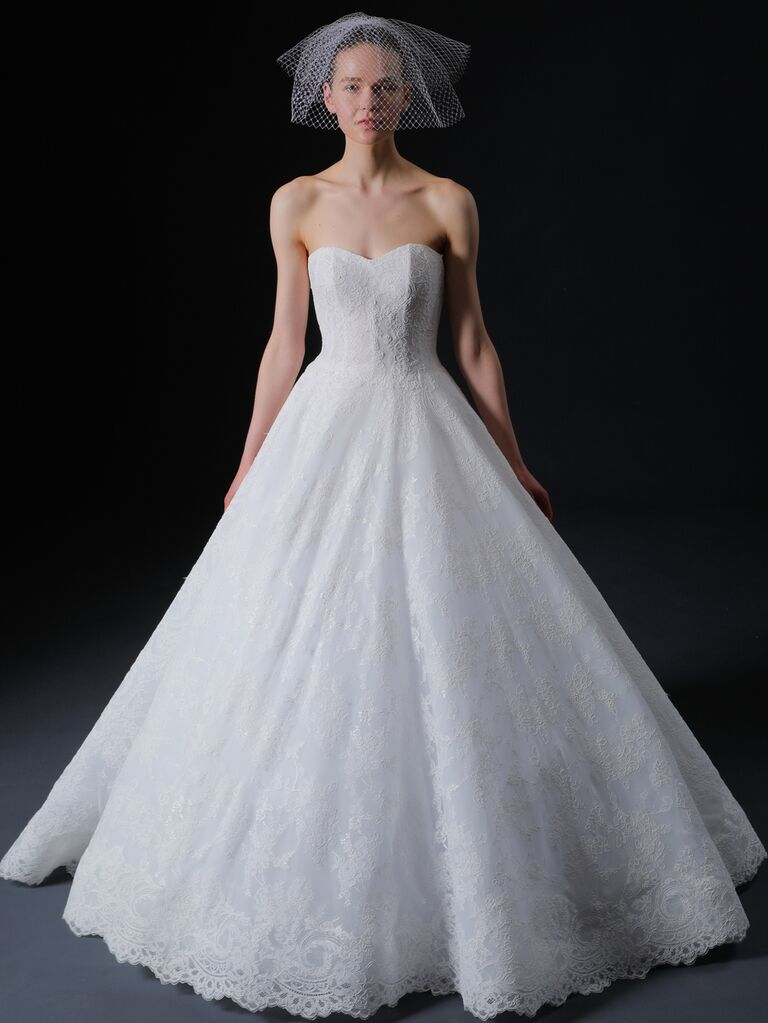Isabelle Armstrong Spring 2020 Bridal Collection strapless sweetheart A-line lace wedding dress