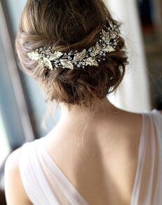 Dareth Colburn Mia Bridal Headpiece (TI-7040) Gold Pins, Combs + Clip