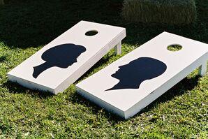 DIY Silhouette Corn Hole Boards