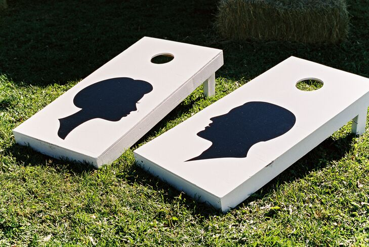 DIY Silhouette Corn Hole Boards