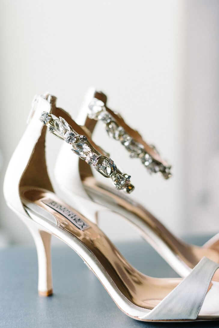 8dc9e564750 Badgley Mischka Wedding Shoes With Crystal Straps