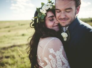 """""""I'm a simple girl, so I needed a simple wedding,"""" Kristan Crawford (18 and a student at Kansas State University) says of her and Maverick Mills (20 a"""