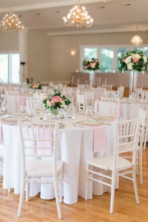 White Chiavari Chairs with Round White Tables