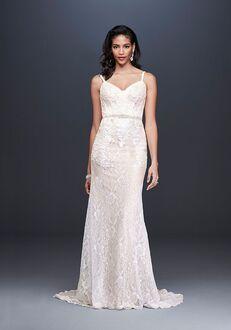 David's Bridal Galina Signature Style SWG819 Sheath Wedding Dress