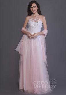 CocoMelody Bridesmaid Dresses PR3508 Halter Bridesmaid Dress
