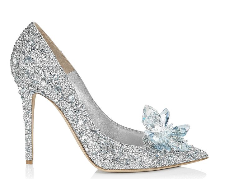 Jimmy Choo sparkle blue wedding shoe