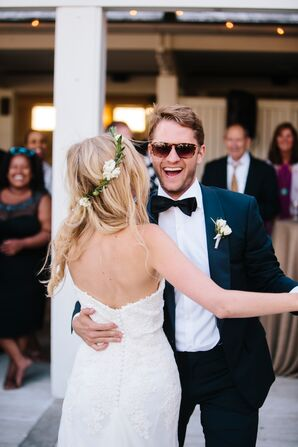 Groom Wearing Sunglasses for First Dance