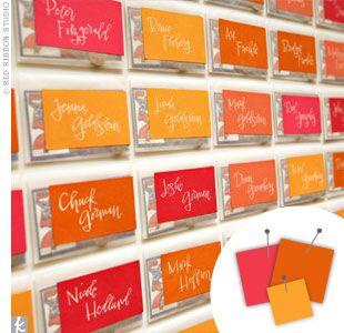 Wedding Color Combo: Hot Pink + Orange + Golden Yellow