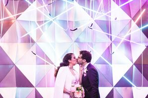 Couple Shares a Kiss at Six01 Studio