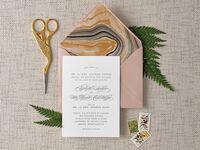 DIY wedding invitation envelope liner